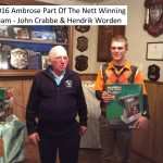 2016 Ambrose Part of the Nett winners John Crabbe & Hendrik Worden